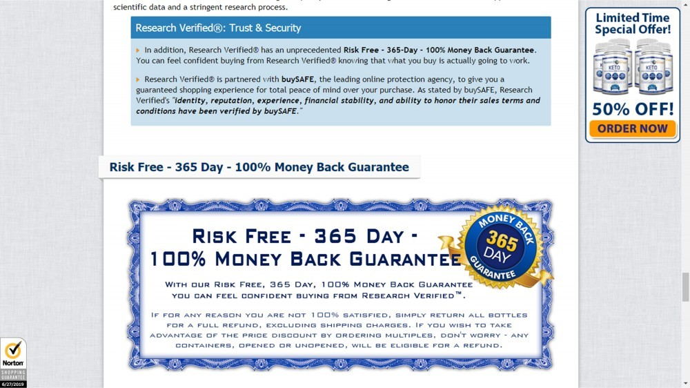 BuySAFE And 365-Day Money Back Guarantee