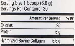 NeoCell Super Collagen Ingredients - Supplement Facts