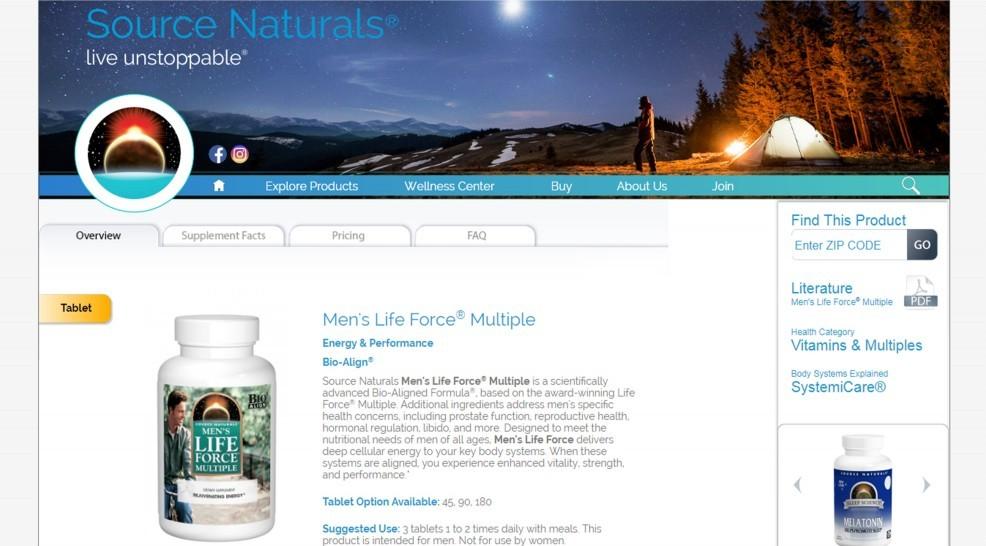 Source Naturals Men's Life Force Review