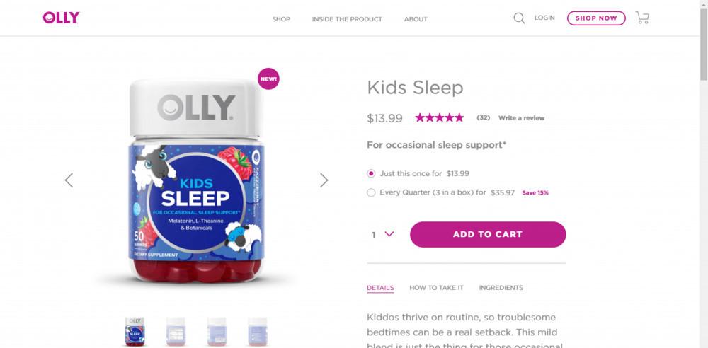 Olly Vitamins Kids Sleep Review