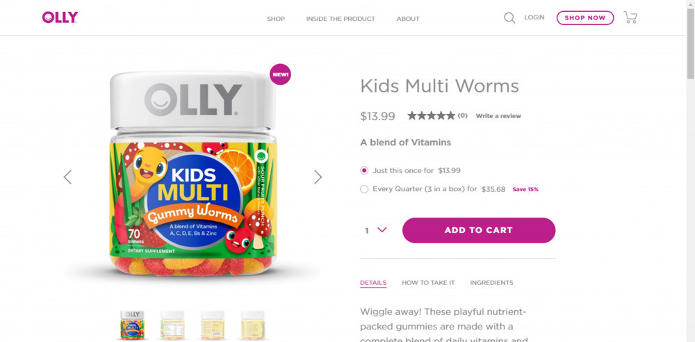 Olly Vitamins Kids Multi Worms Review