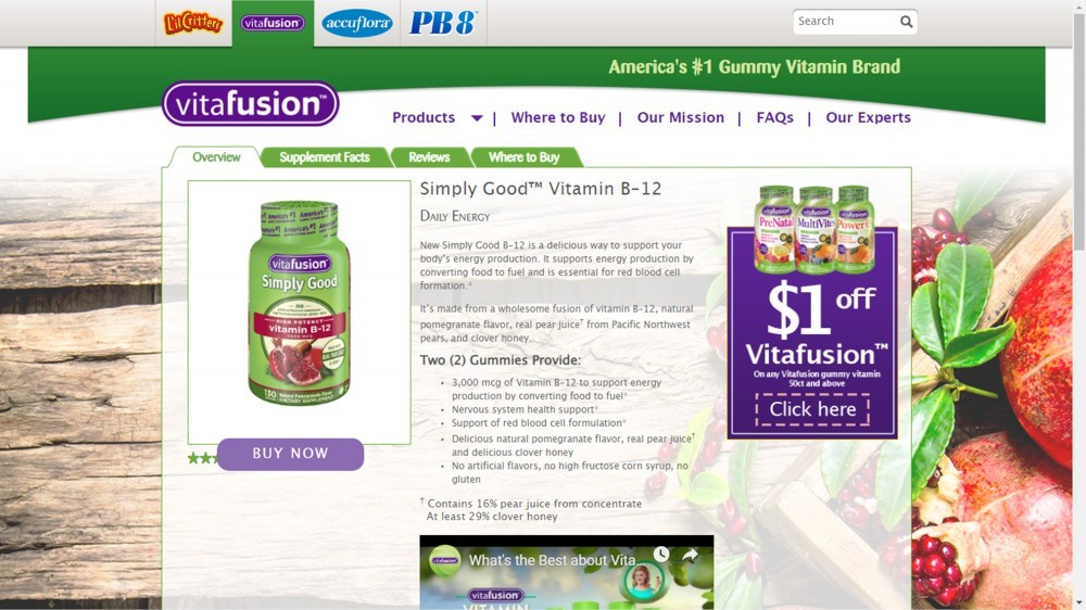 Vitafusion Simply Good Vitamin B12 Review