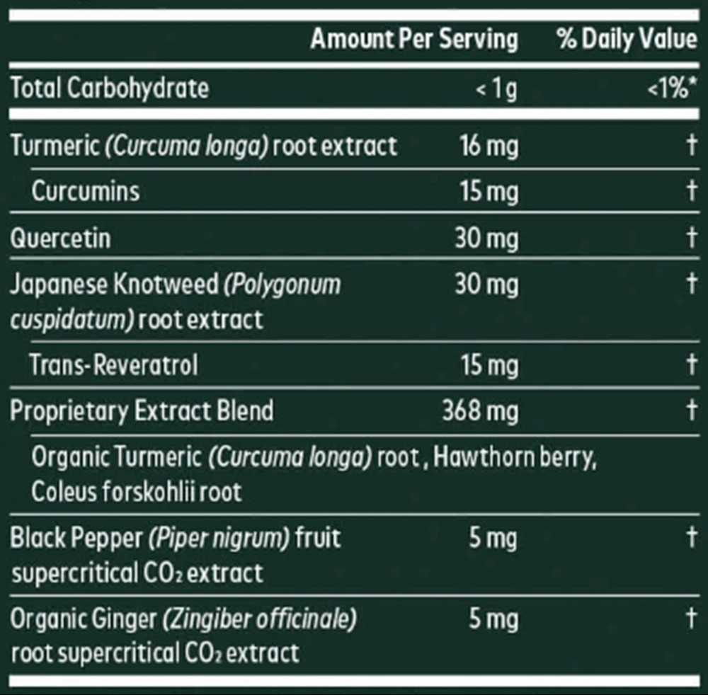 Gaia Turmeric Supreme Heart Ingredients (Supplement Facts)