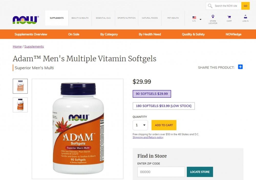 NOW ADAM Men's Multiple Vitamin Review