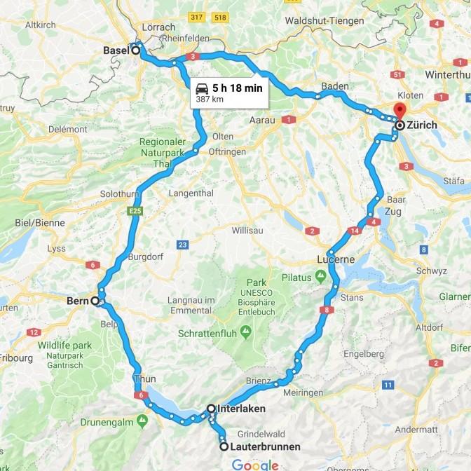 A 2 week Switzerland Itinerary #travelclans #switzerland #roadtrip #basel #bern #zurich #lauterbrunnen #interlaken #lucerne #thingstodo