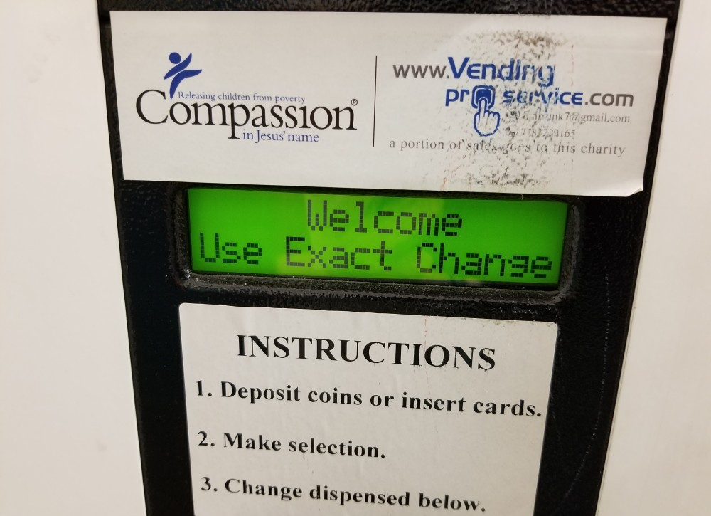 use exact change problem on vending machine
