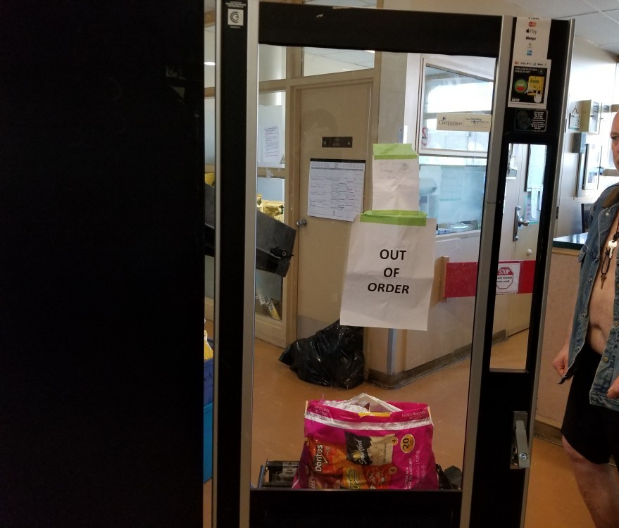 out of order machine because of coin mechanism jam