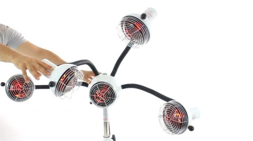 skin act 5 head infrared heat lamp