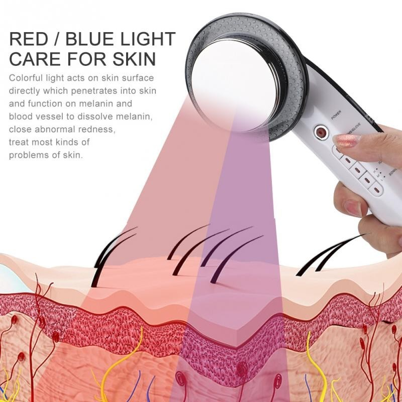 red and blue light therapy device for skin
