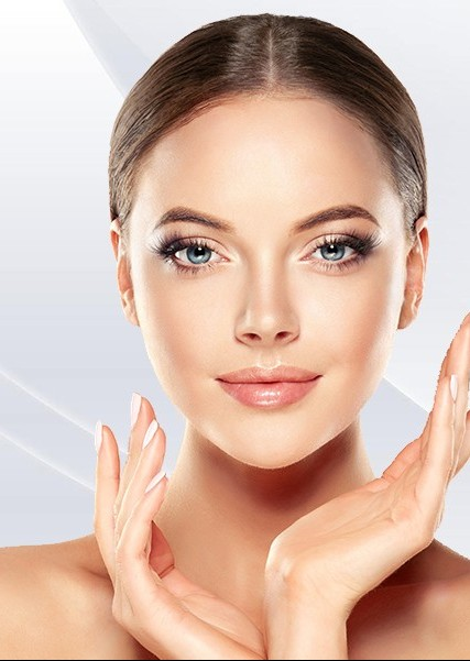 beautiful skin using blue and red light therapy