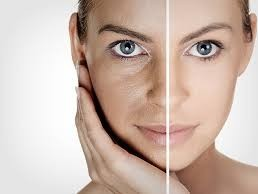 before and after light therapy on skin