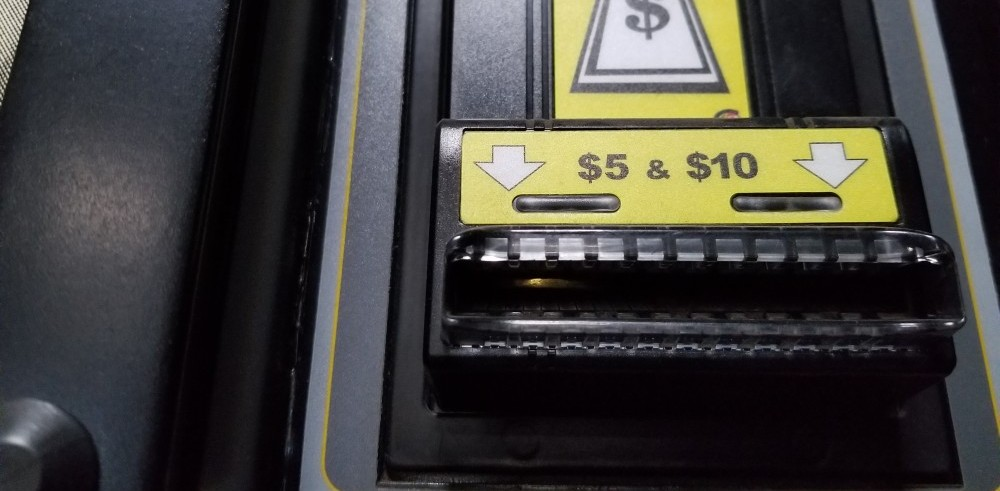 coin stuck inside the bill validator