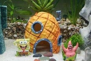 spongebob aquarium decor