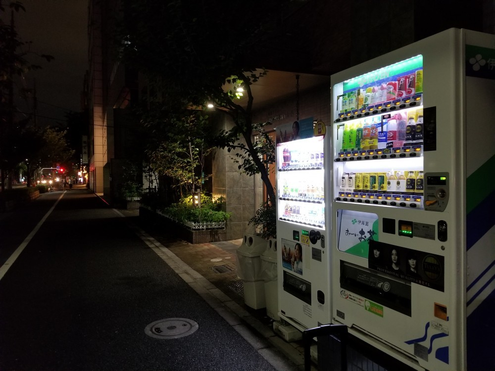 vending machine on the street in Japan at night