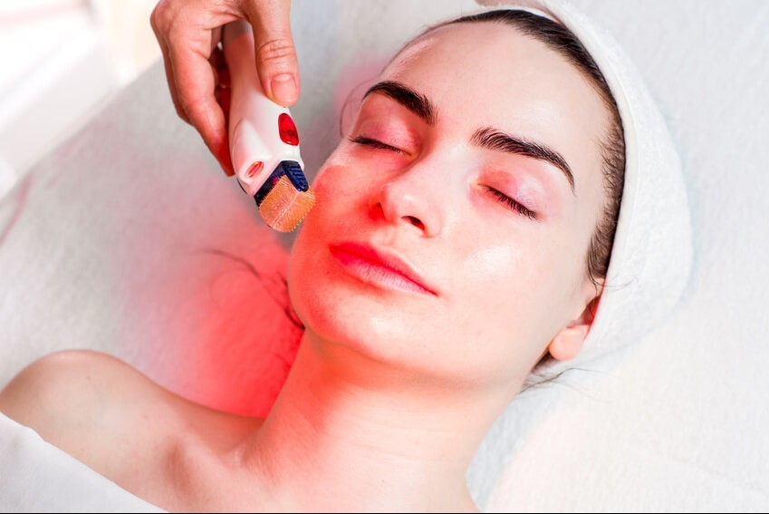red light therapy device for face