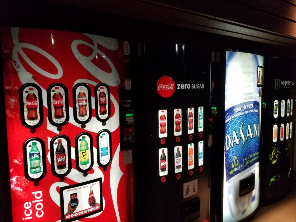 newer soda pop vending machines