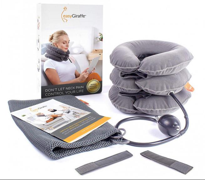 easygiraffe neck traction device