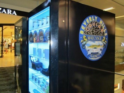 caviar vending machine in LA