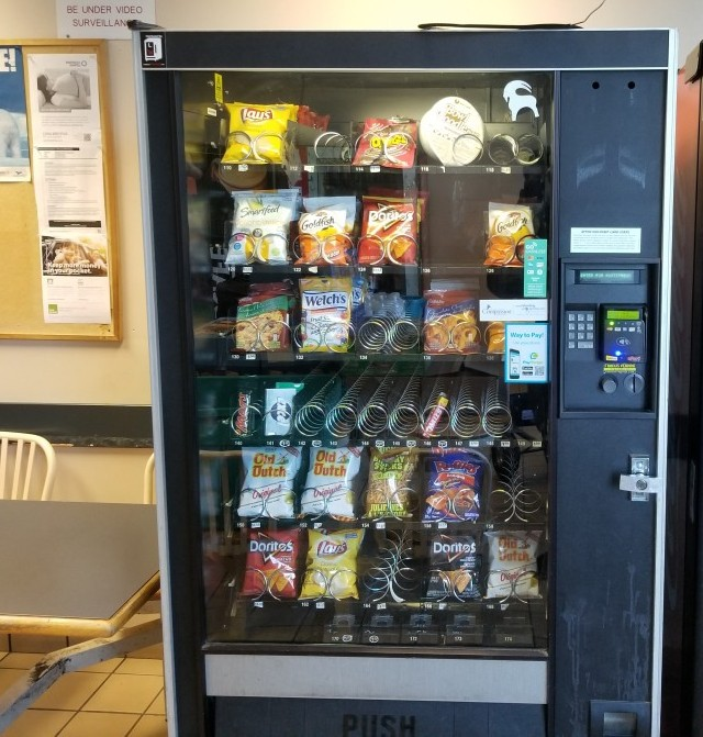 newer type mdb complaint snack vending machine
