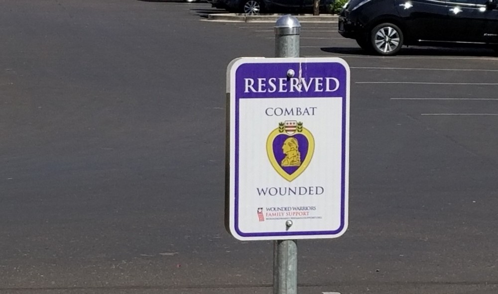 parking for wounded soldiers in arizona