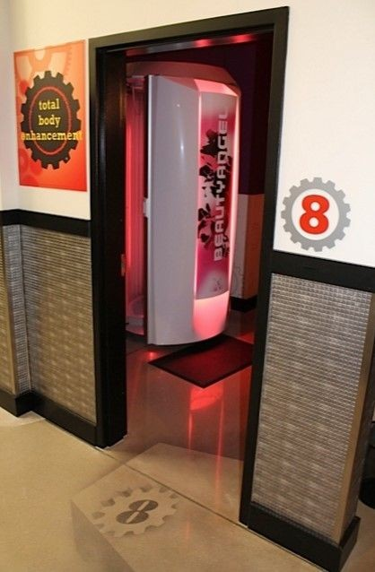 planet fitness red light therapy booth
