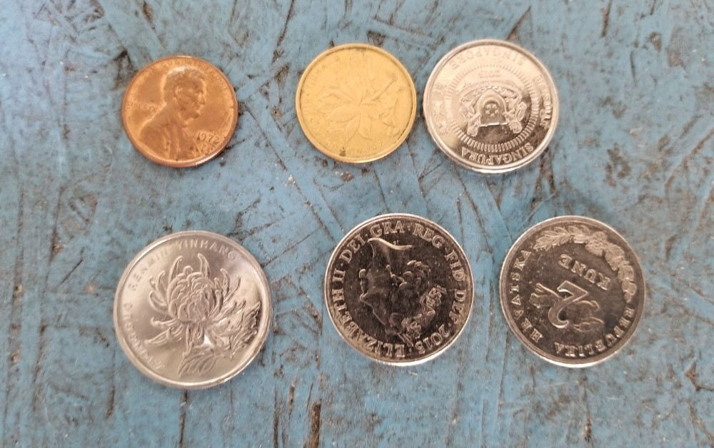 coins that jammed my vending machine