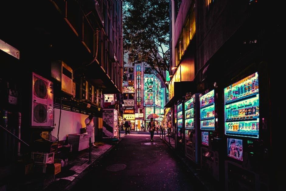 vending machines on street