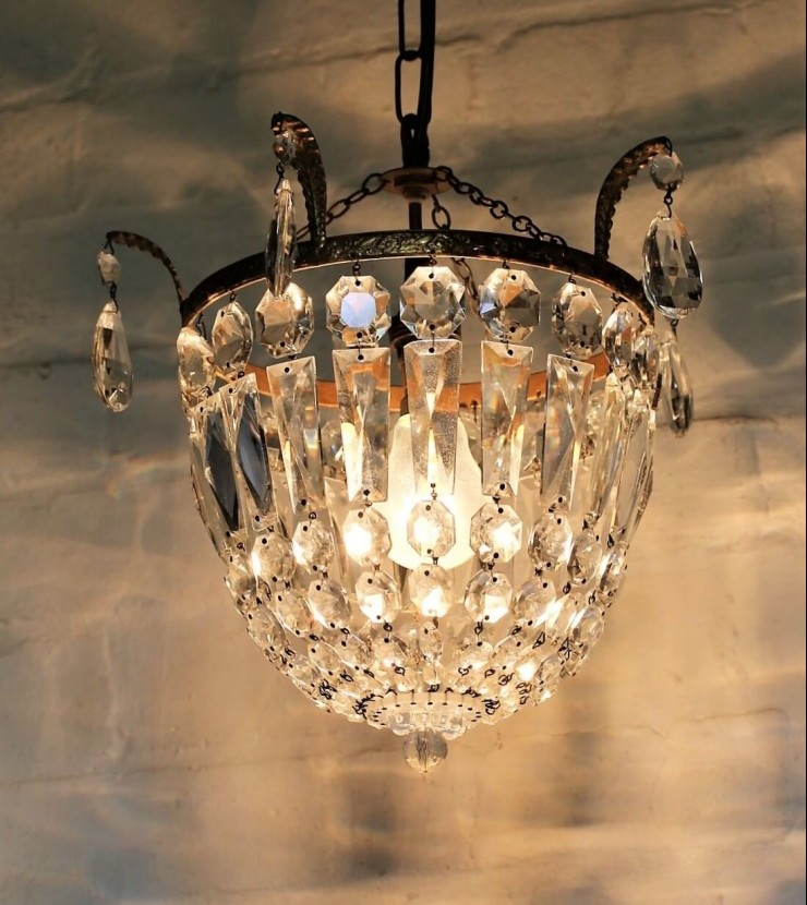 Vintage crystal chandelier