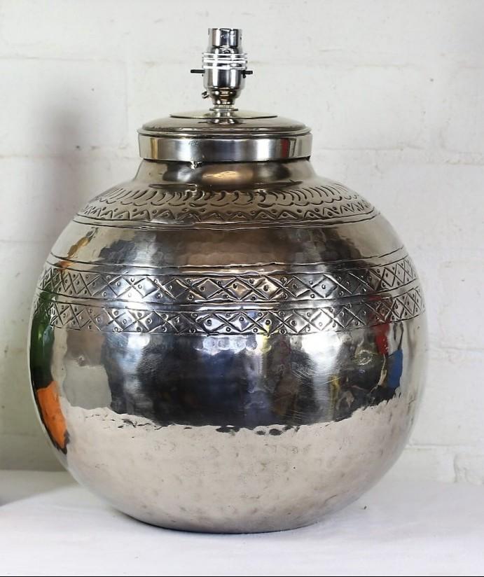 Habitat Silvered Ethnic Lamp
