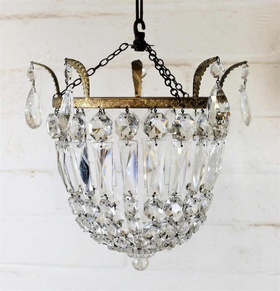 Vintage bag crystal chandelier