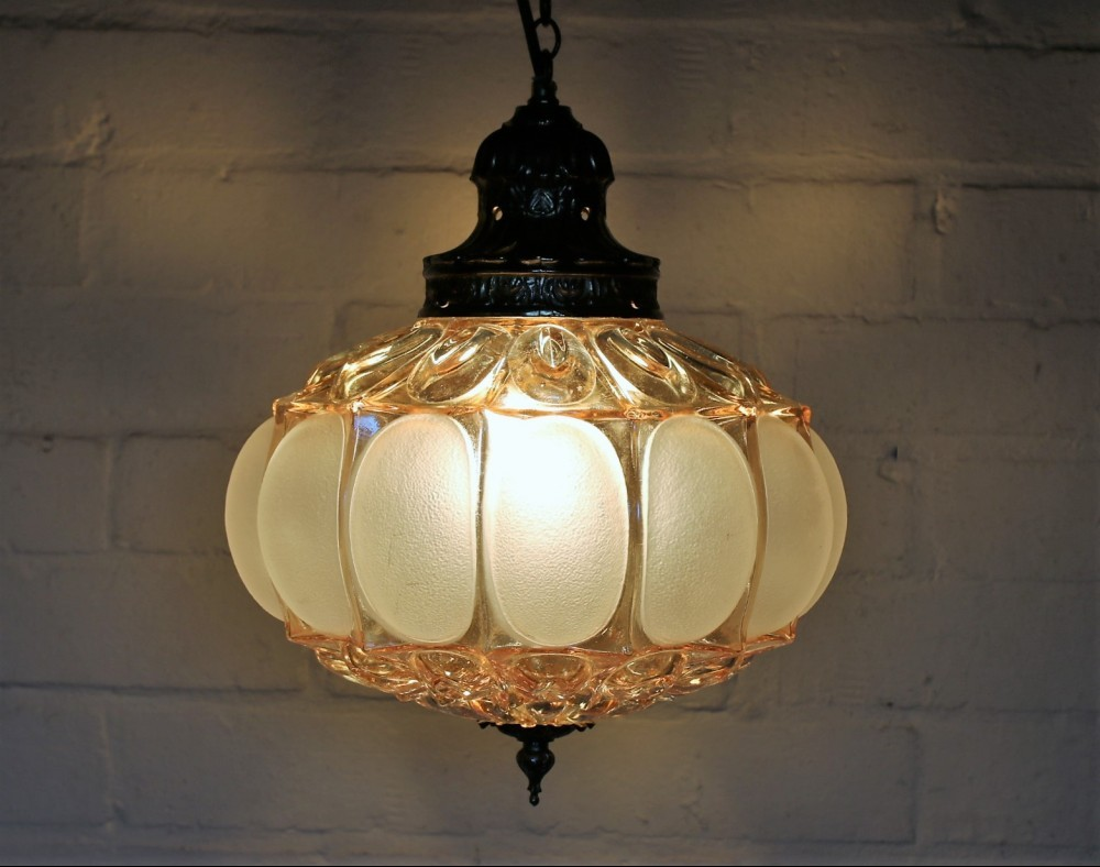 Vintage Glass Ceiling Light