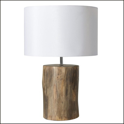 RUSTIC WOODEN TABLE LAMP