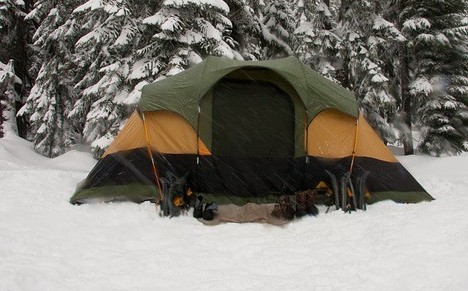 Winter camping is best