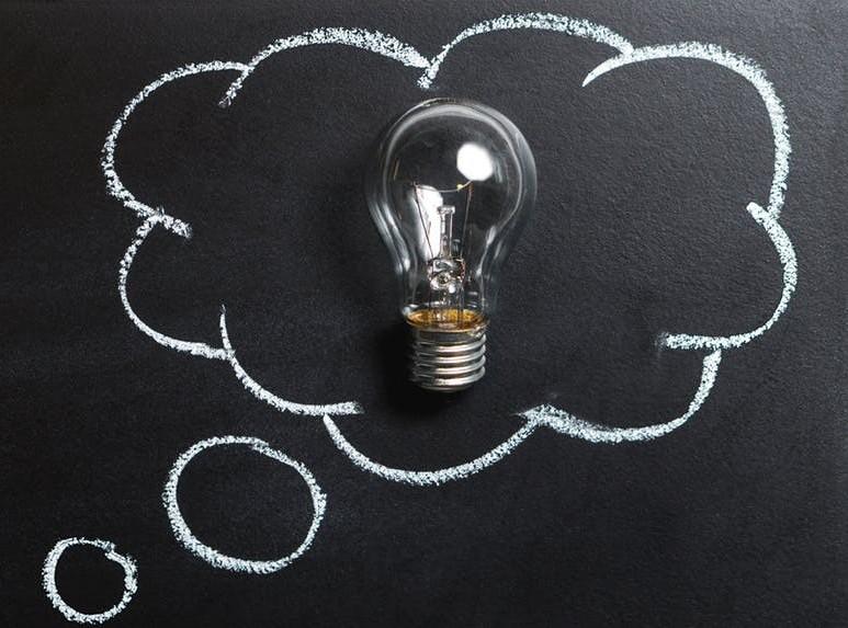 Light Bulb in Idea Bubble