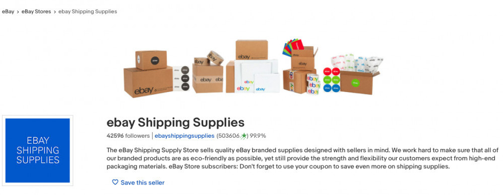 Free eBay branded supplies