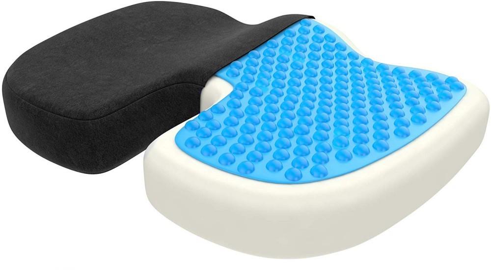 bonmedico orthopedic seat cushion with gel layer and memory foam