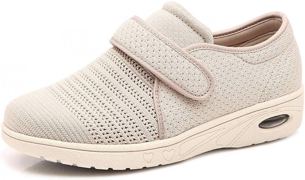 Womens Adjustable Air Cushion Diabetic Walking Shoes