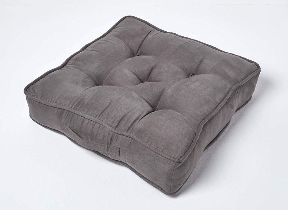 Homescapes Grey Armchair Large Booster Cushion