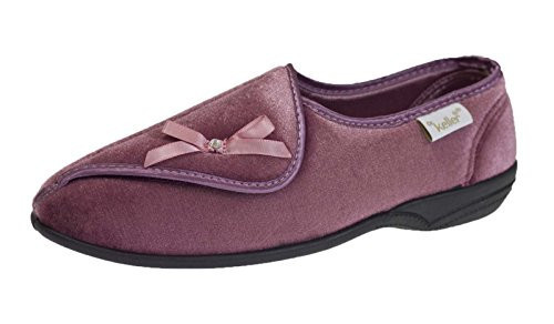 Dr Keller Womens Diabetic Orthopaedic Fur Lined Comfort Slipper Shoes