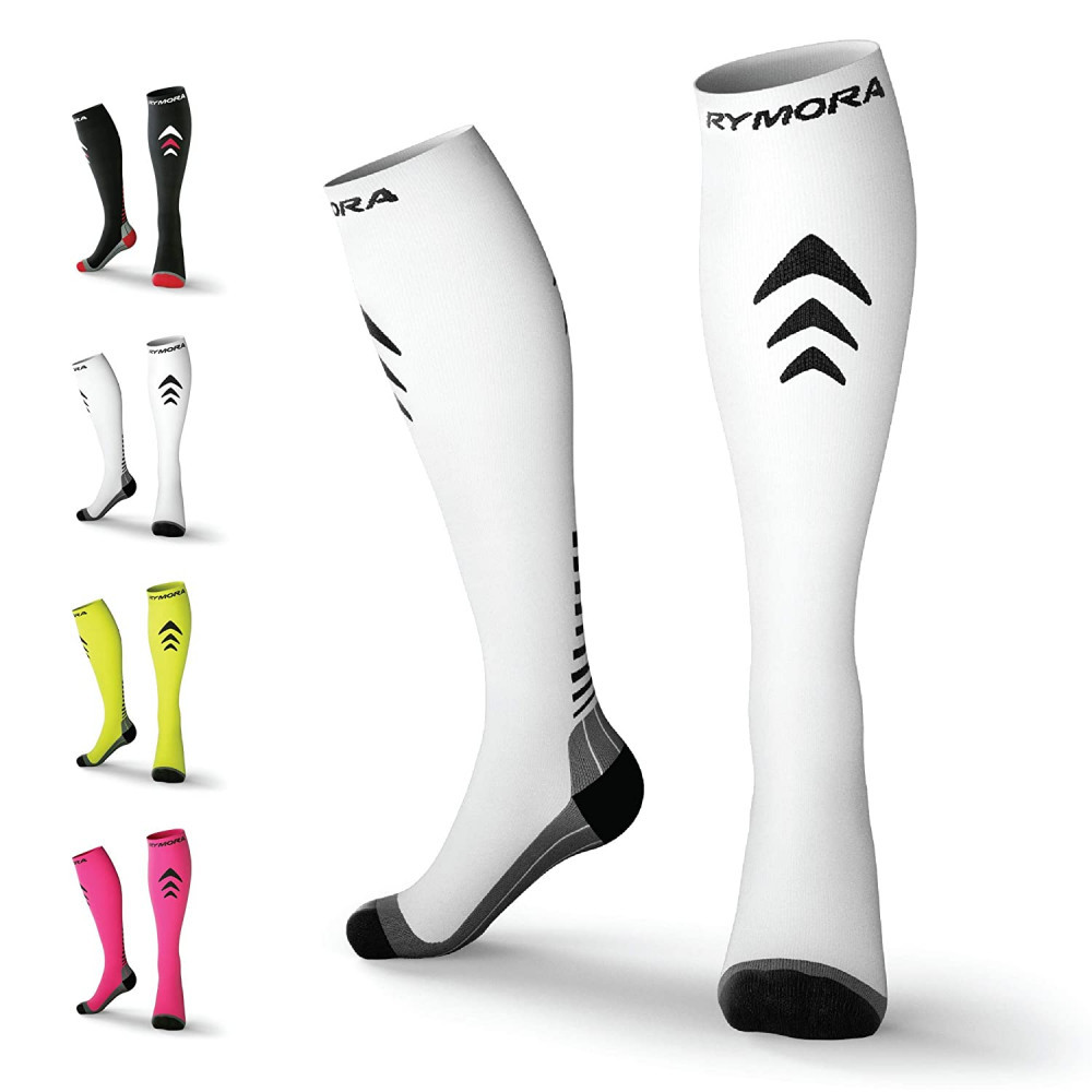 Rymora Compression Socks (Cushioned, Graduated Compression, Ergonomic fit for Men and Women, Seamless Toe