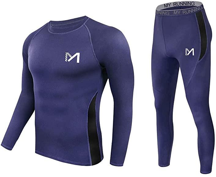 Meetyoo Mens Quick Drying Thermal Underwear Set