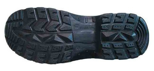 Polyurethane sole of a walking boot