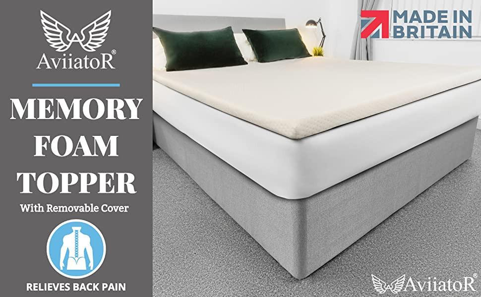 AviiatoR® 5cm King Size Orthopaedic Pressure Relief Memory Foam Mattress Topper