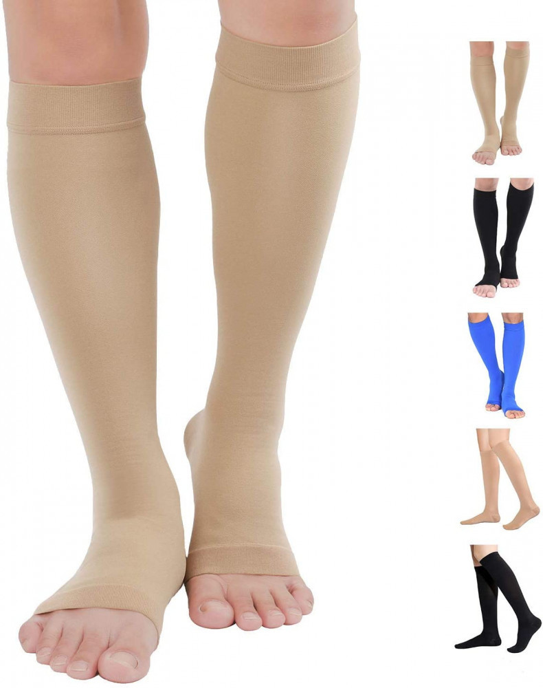 TOFLY Knee High Graduated Medical Compression Socks