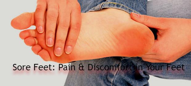 Sore feet after using a foot massager machine