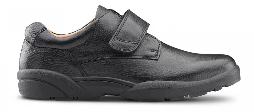 Dr. Comfort Men's William-X Double Depth Black Diabetic Casual Shoes