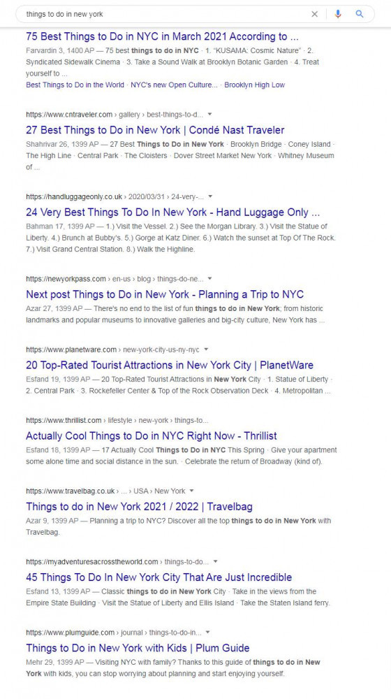 These Are Search Results From The First Page