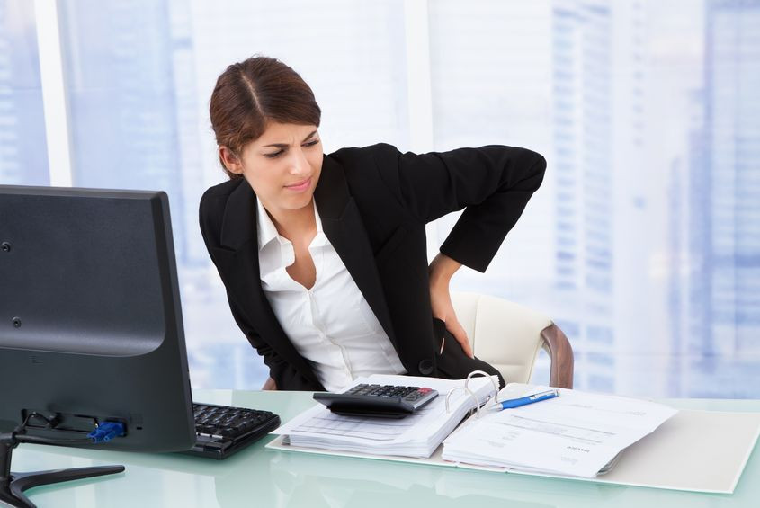 Negative effects of sitting behind a desk