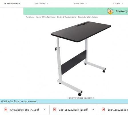 GRANDMA SHARK 80 × 40 cm Laptop Table