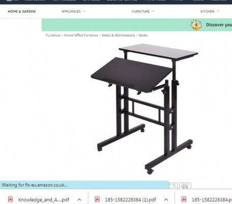sogesfurniture Adjustable Stand-Up Desk